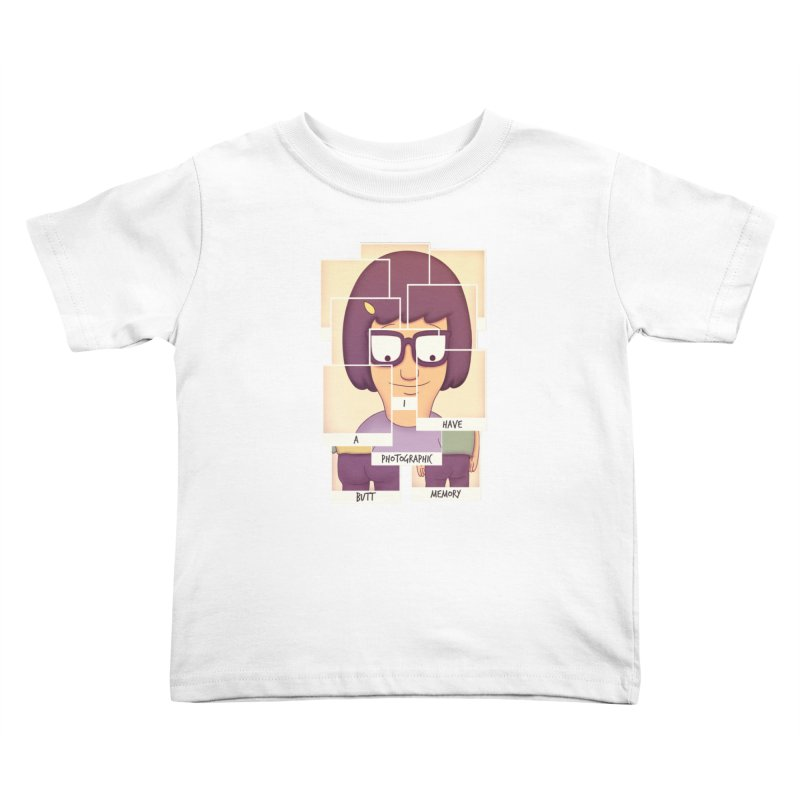 Photographic Butt Memory Kids Toddler T-Shirt by lirovi's Artist Shop