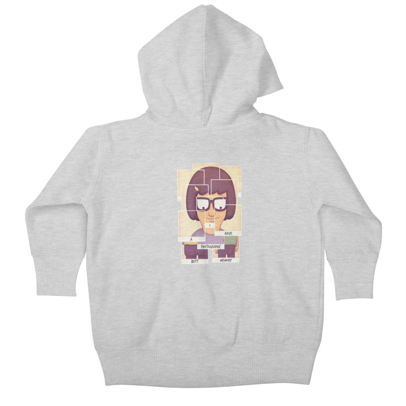 Photographic Butt Memory Kids Baby Zip-Up Hoody by lirovi's Artist Shop