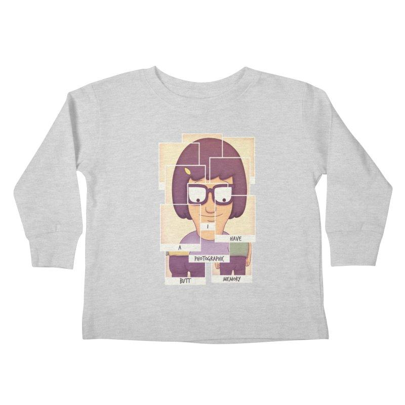 Photographic Butt Memory Kids Toddler Longsleeve T-Shirt by lirovi's Artist Shop