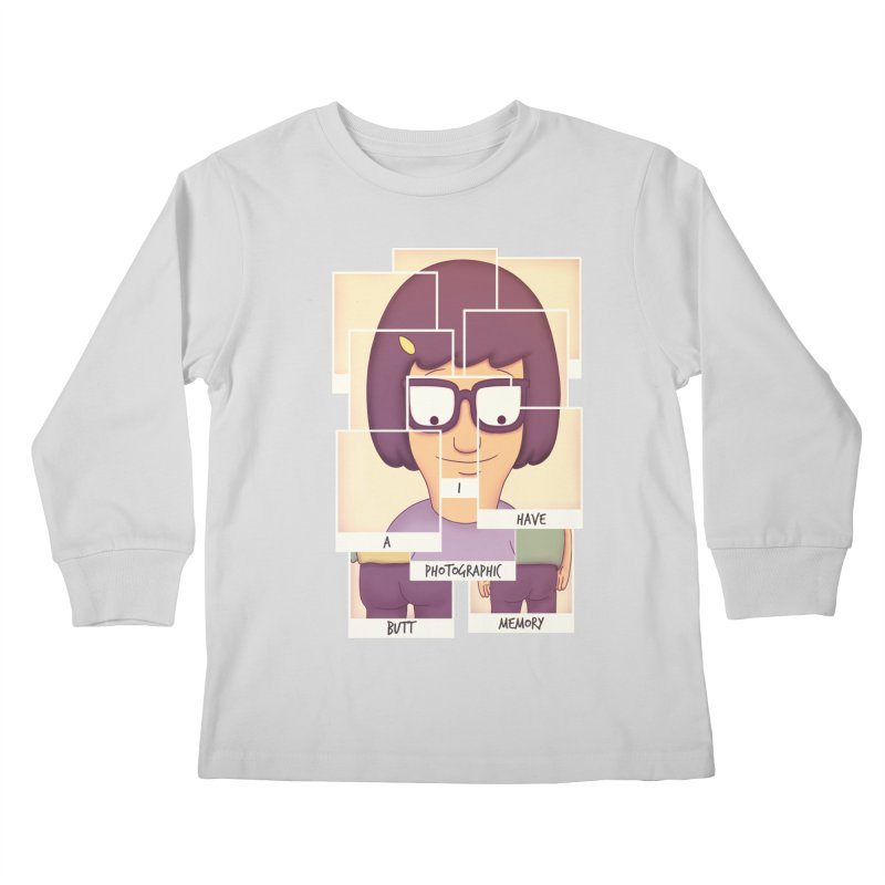 Photographic Butt Memory Kids Longsleeve T-Shirt by lirovi's Artist Shop
