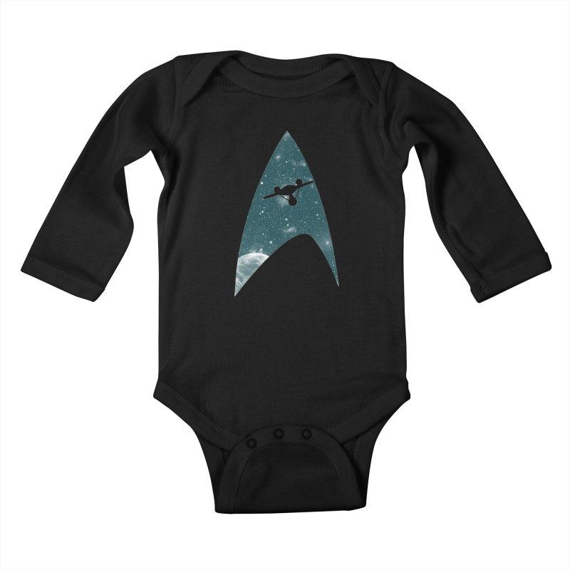 Space the final frontier Kids Baby Longsleeve Bodysuit by lirovi's Artist Shop