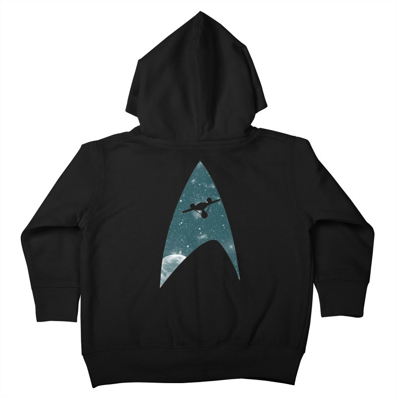 Space the final frontier Kids Toddler Zip-Up Hoody by lirovi's Artist Shop