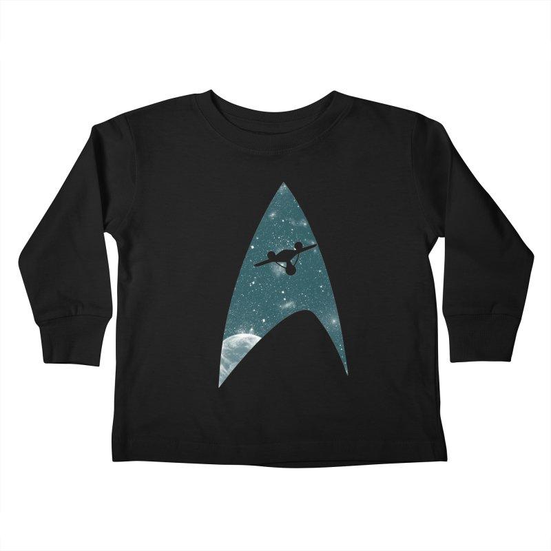 Space the final frontier Kids Toddler Longsleeve T-Shirt by lirovi's Artist Shop
