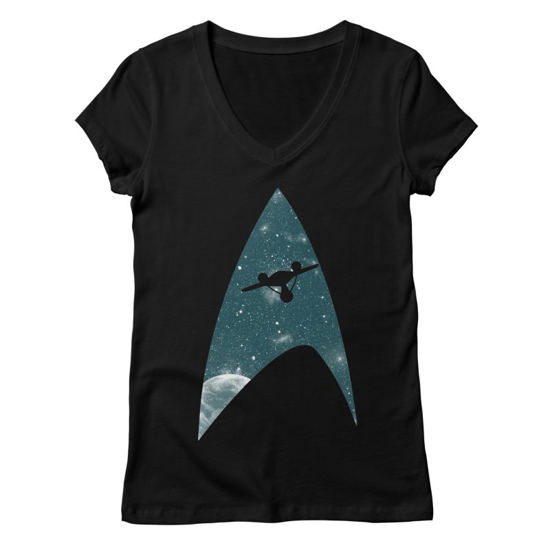 Space the final frontier Women's V-Neck by lirovi's Artist Shop