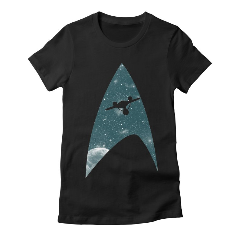 Space the final frontier Women's Fitted T-Shirt by lirovi's Artist Shop