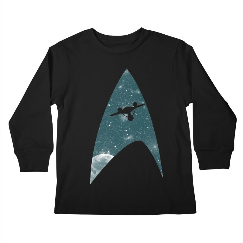 Space the final frontier Kids Longsleeve T-Shirt by lirovi's Artist Shop