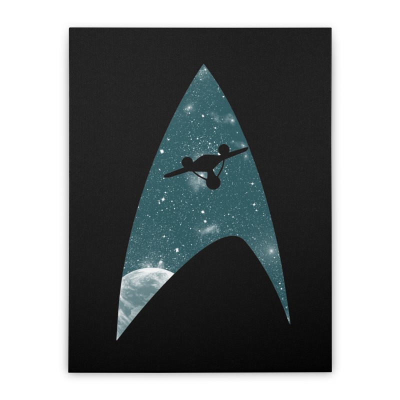 Space the final frontier Home Stretched Canvas by lirovi's Artist Shop