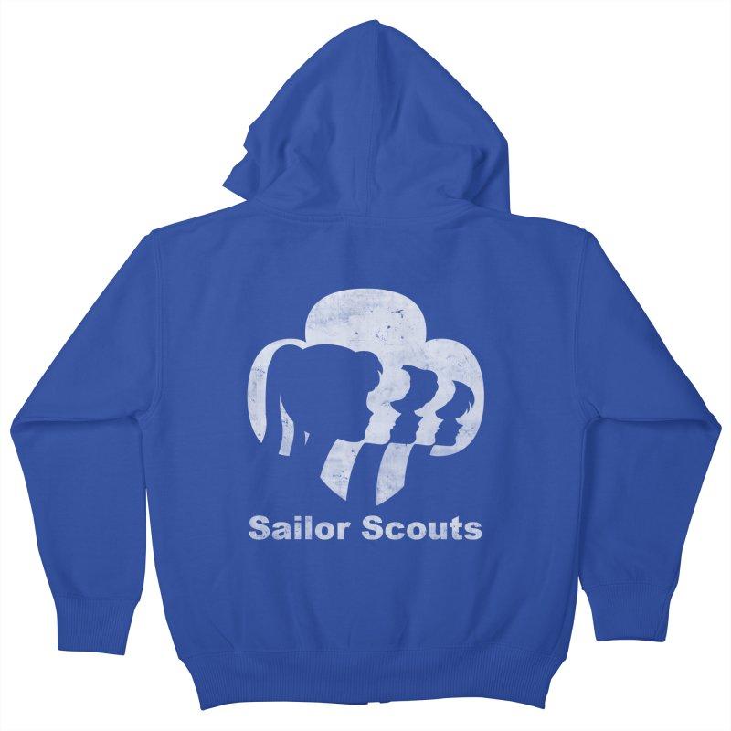 Sailor Scouts Kids Zip-Up Hoody by lirovi's Artist Shop