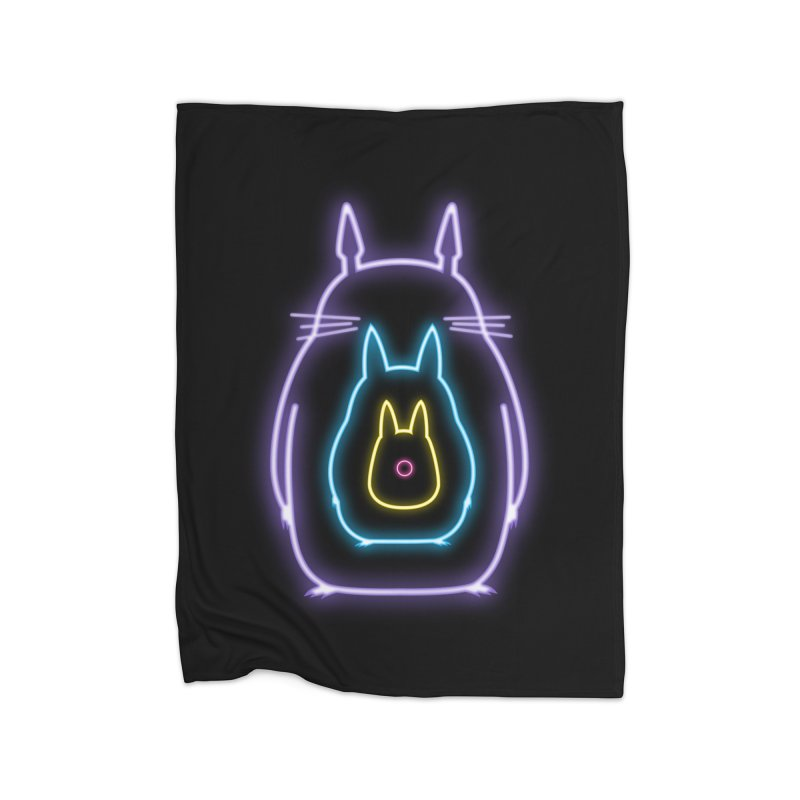 My Neon Neighbors Home Blanket by lirovi's Artist Shop
