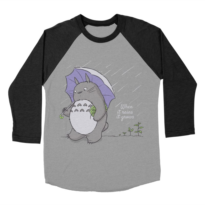 When it rains Men's Baseball Triblend T-Shirt by lirovi's Artist Shop