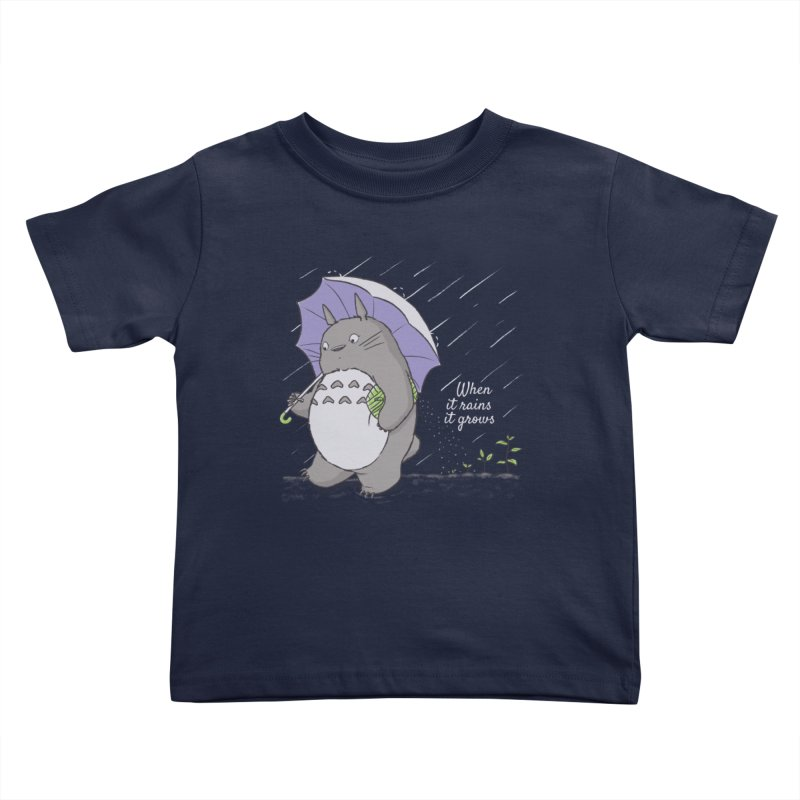 When it rains Kids Toddler T-Shirt by lirovi's Artist Shop
