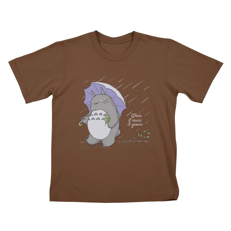 When it rains Kids T-shirt by lirovi's Artist Shop
