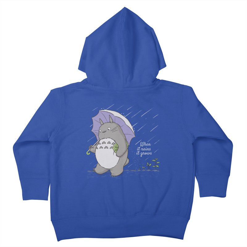 When it rains Kids Toddler Zip-Up Hoody by lirovi's Artist Shop