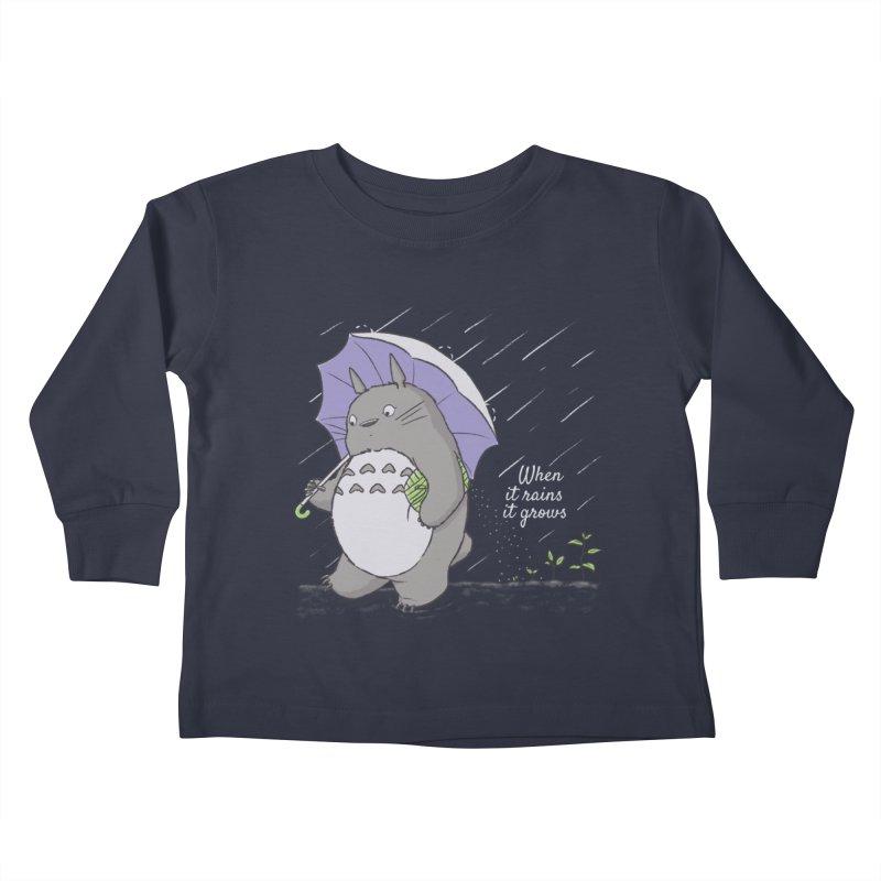 When it rains Kids Toddler Longsleeve T-Shirt by lirovi's Artist Shop