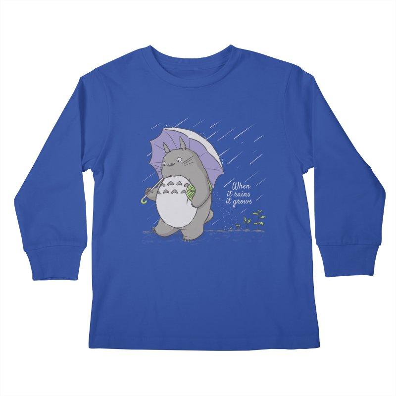 When it rains Kids Longsleeve T-Shirt by lirovi's Artist Shop