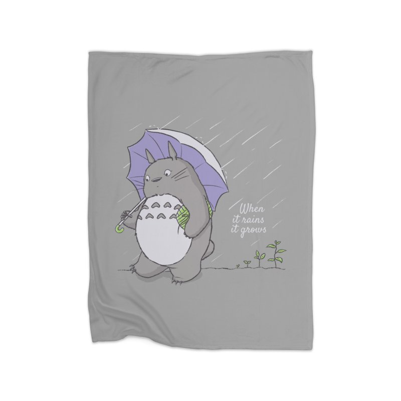 When it rains Home Blanket by lirovi's Artist Shop