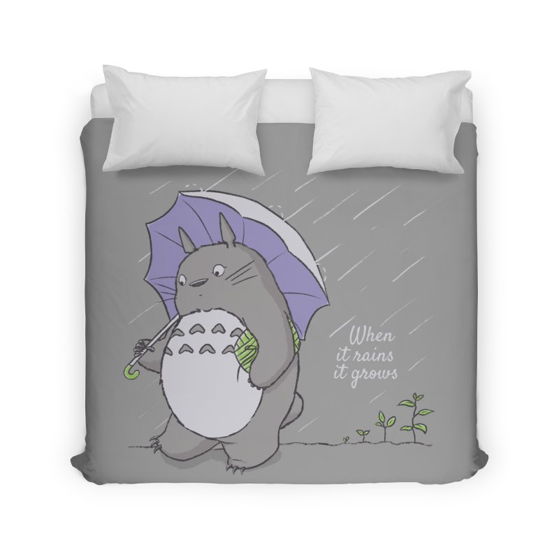 When it rains Home Duvet by lirovi's Artist Shop