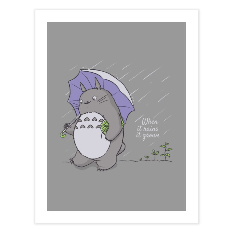 When it rains Home Fine Art Print by lirovi's Artist Shop