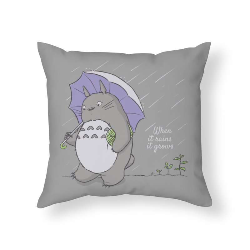 When it rains Home Throw Pillow by lirovi's Artist Shop