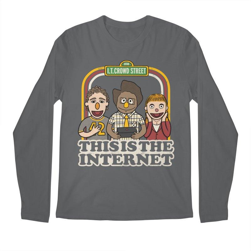 This is the internet Men's Longsleeve T-Shirt by lirovi's Artist Shop