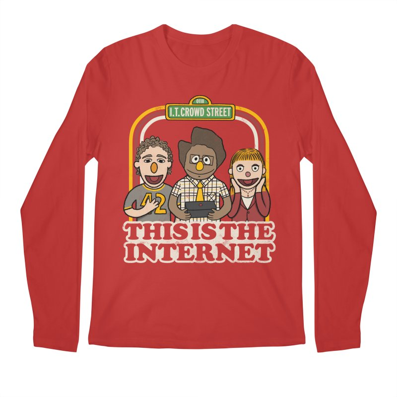 This is the internet Men's Longsleeve T-Shirt by lirovi's Artist Shop