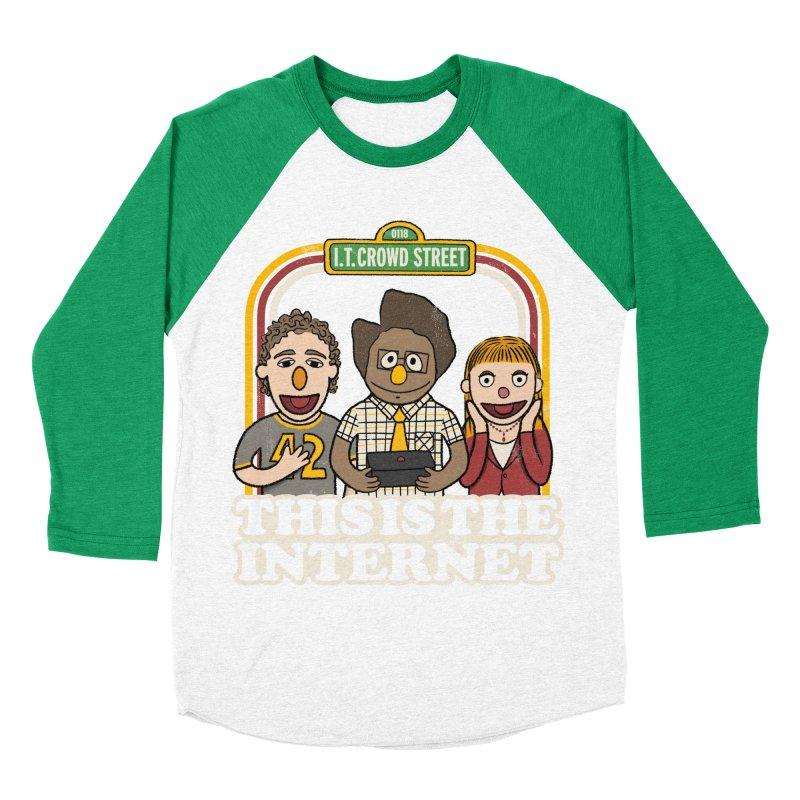 This is the internet Women's Baseball Triblend T-Shirt by lirovi's Artist Shop