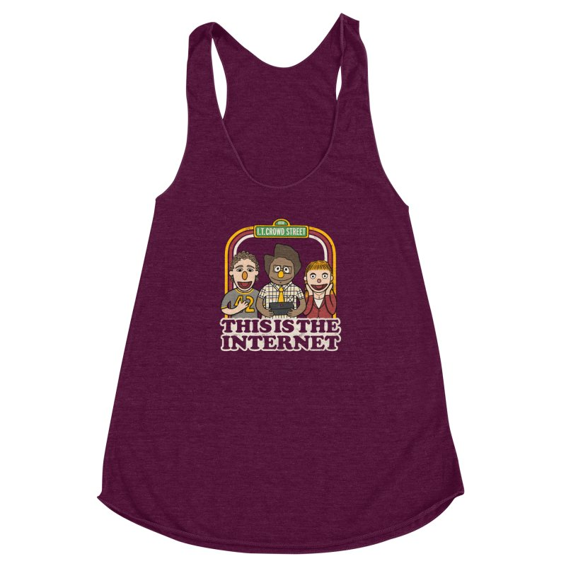 This is the internet Women's Racerback Triblend Tank by lirovi's Artist Shop