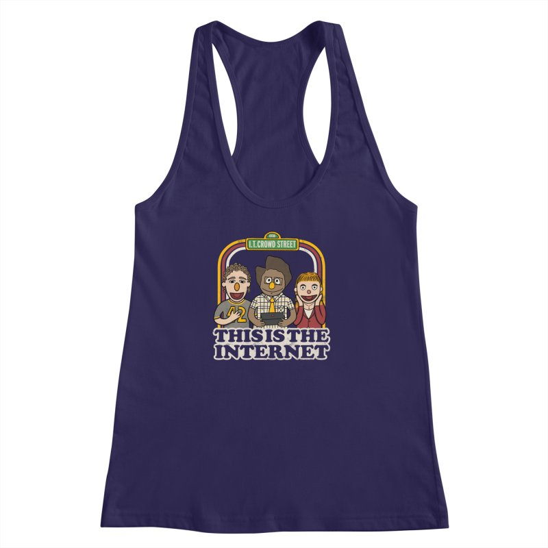 This is the internet Women's Racerback Tank by lirovi's Artist Shop