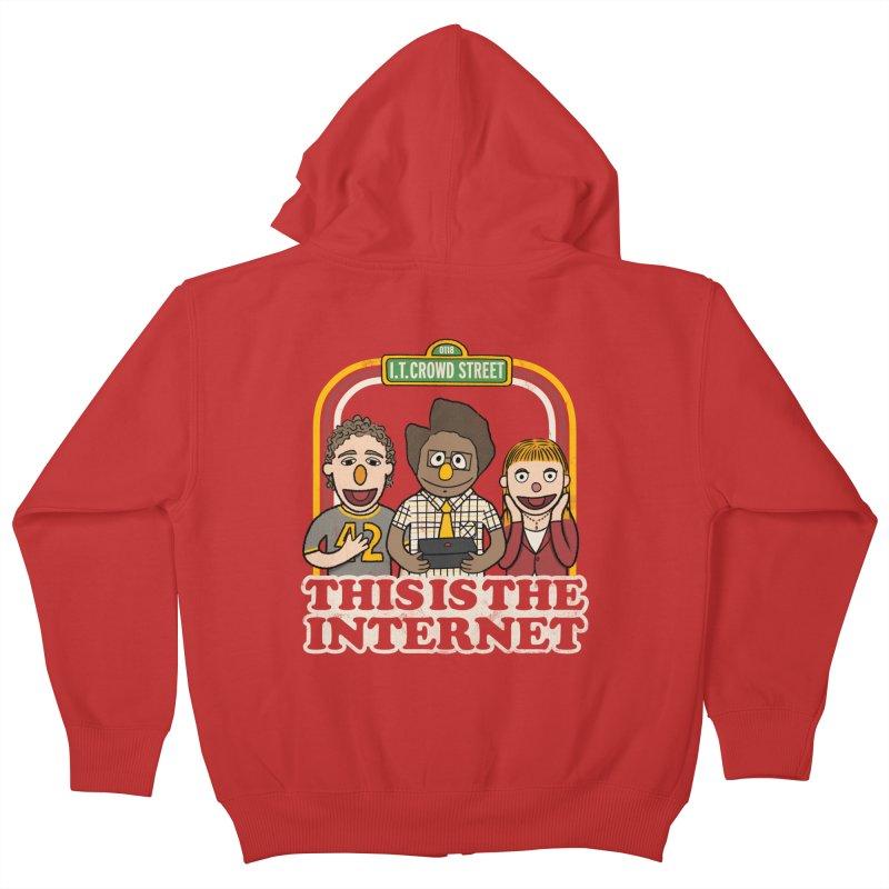 This is the internet Kids Zip-Up Hoody by lirovi's Artist Shop