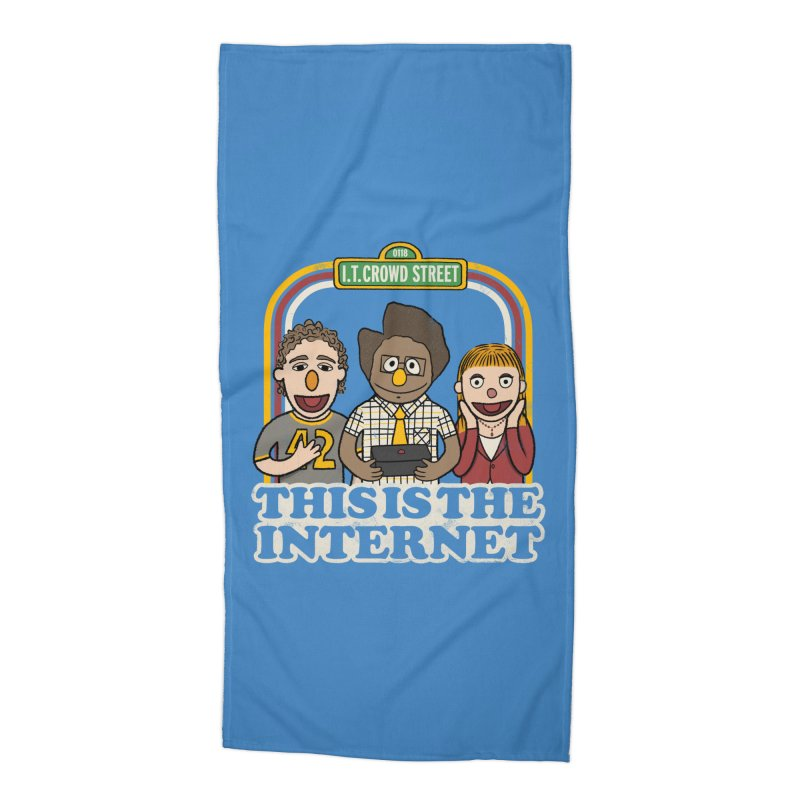 This is the internet Accessories Beach Towel by lirovi's Artist Shop