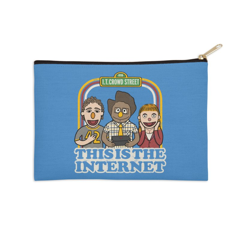 This is the internet Accessories Zip Pouch by lirovi's Artist Shop