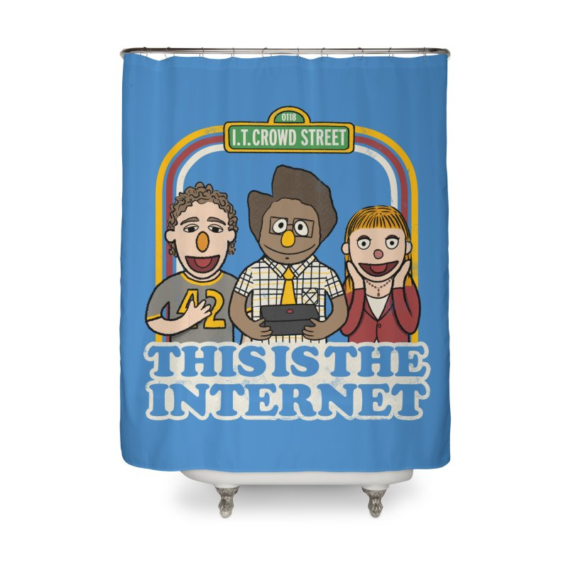 This is the internet Home Shower Curtain by lirovi's Artist Shop