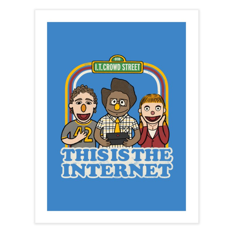 This is the internet Home Fine Art Print by lirovi's Artist Shop
