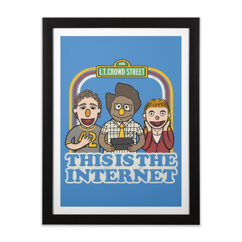 This is the internet Home Framed Fine Art Print by lirovi's Artist Shop