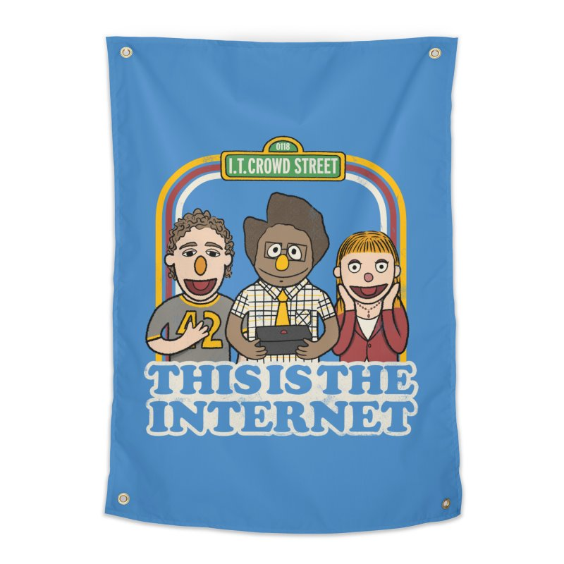 This is the internet Home Tapestry by lirovi's Artist Shop