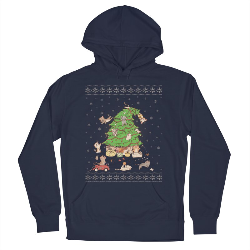 Meowi Christmas Men's Pullover Hoody by lirovi's Artist Shop