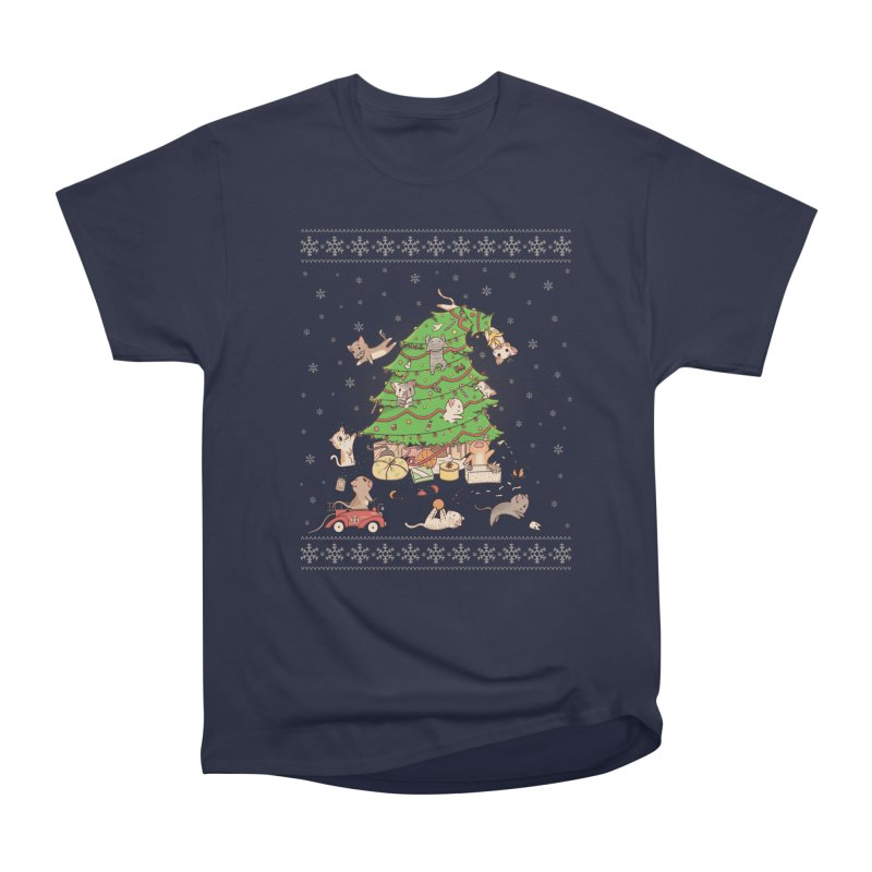Meowi Christmas Men's Heavyweight T-Shirt by lirovi's Artist Shop