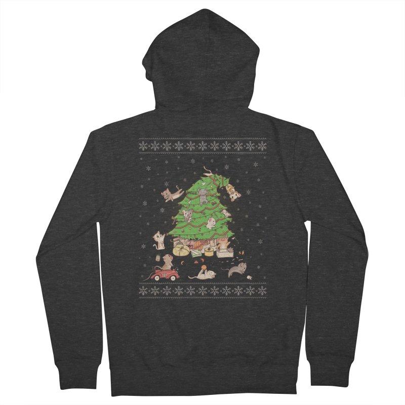 Meowi Christmas Women's Zip-Up Hoody by lirovi's Artist Shop