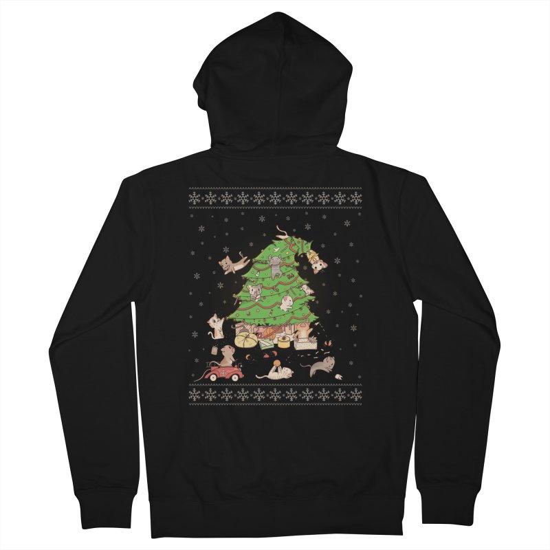 Meowi Christmas Men's Zip-Up Hoody by lirovi's Artist Shop