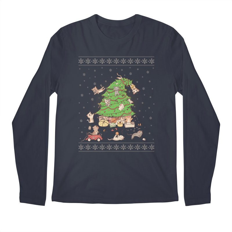 Meowi Christmas Men's Longsleeve T-Shirt by lirovi's Artist Shop