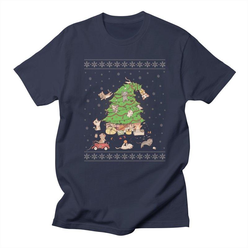 Meowi Christmas Men's T-shirt by lirovi's Artist Shop