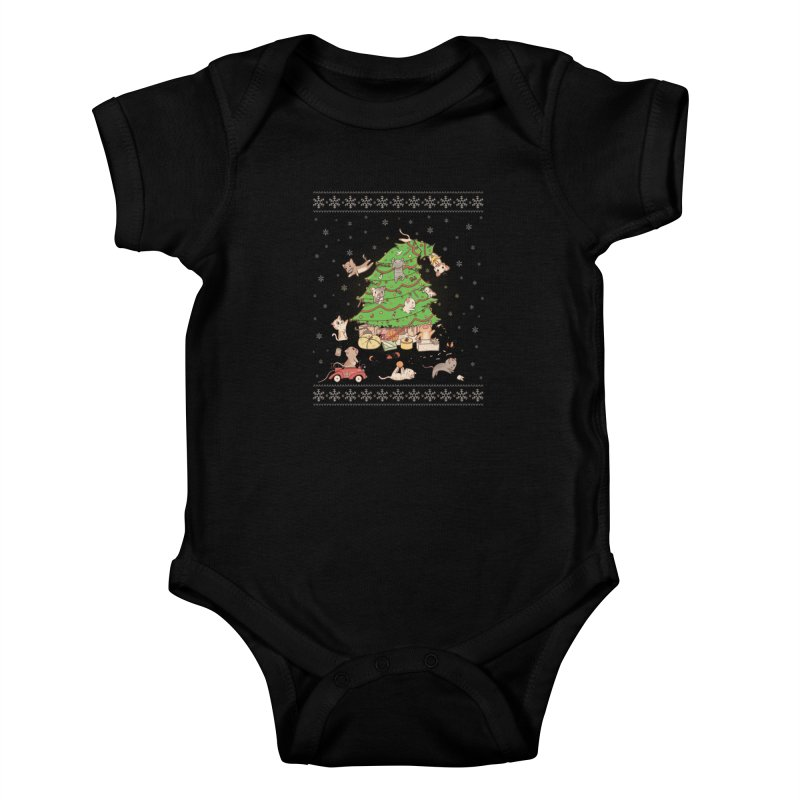 Meowi Christmas Kids Baby Bodysuit by lirovi's Artist Shop