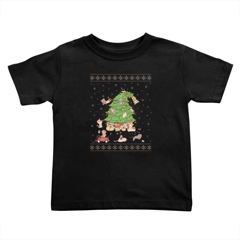 Meowi Christmas Kids Toddler T-Shirt by lirovi's Artist Shop