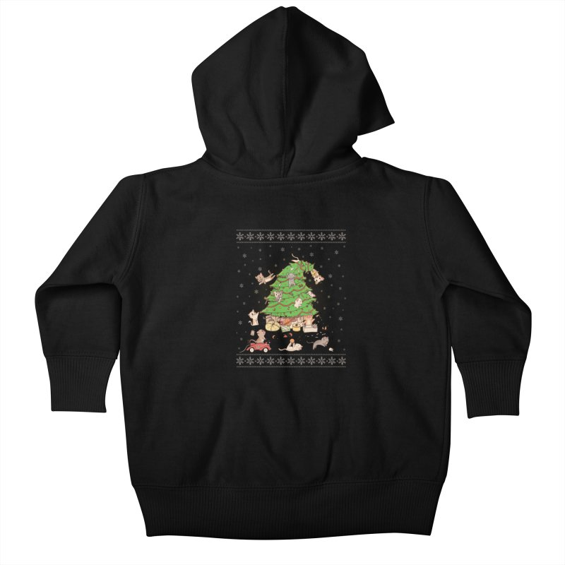 Meowi Christmas Kids Baby Zip-Up Hoody by lirovi's Artist Shop