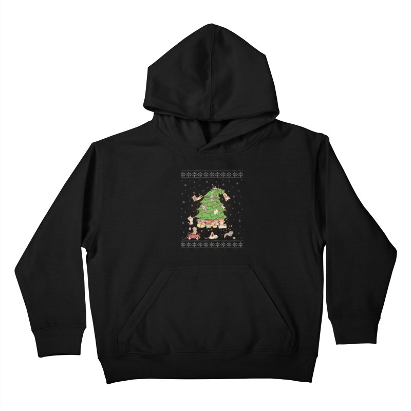 Meowi Christmas Kids Pullover Hoody by lirovi's Artist Shop