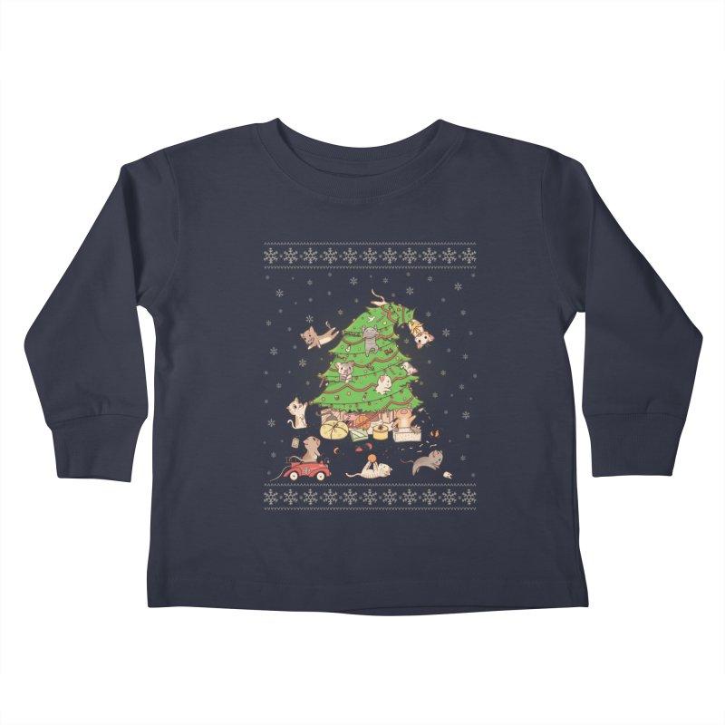 Meowi Christmas Kids Toddler Longsleeve T-Shirt by lirovi's Artist Shop