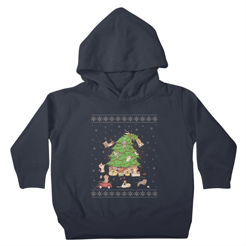 Meowi Christmas Kids Toddler Pullover Hoody by lirovi's Artist Shop