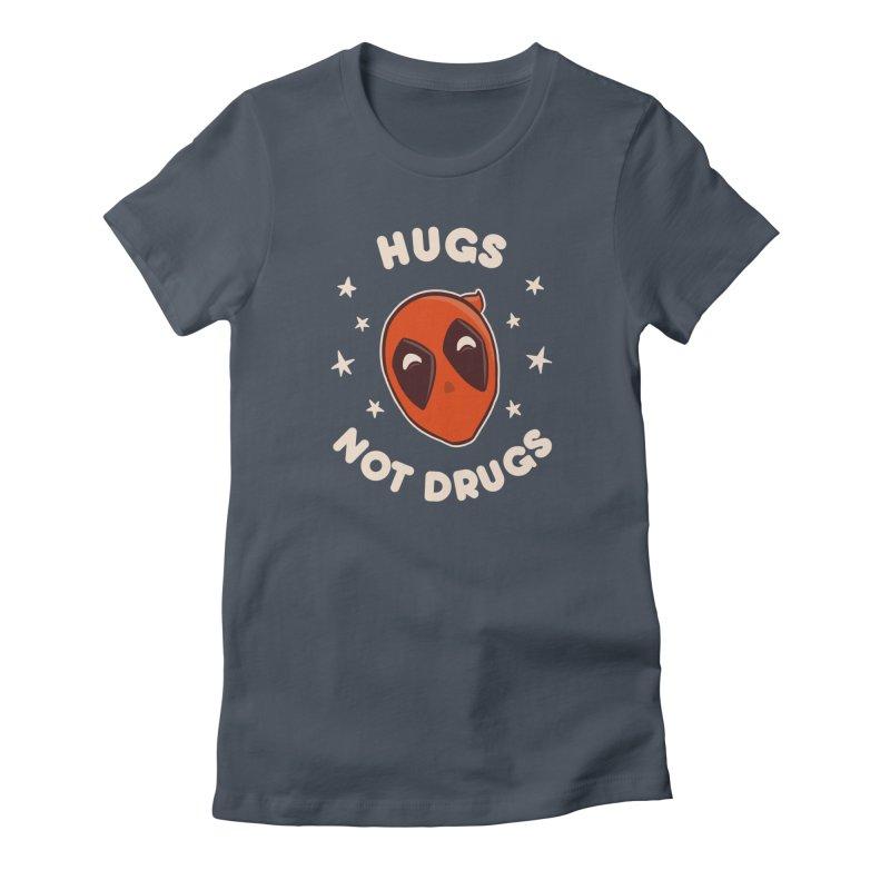 Hugs, not drugs Women's French Terry Zip-Up Hoody by lirovi's Artist Shop
