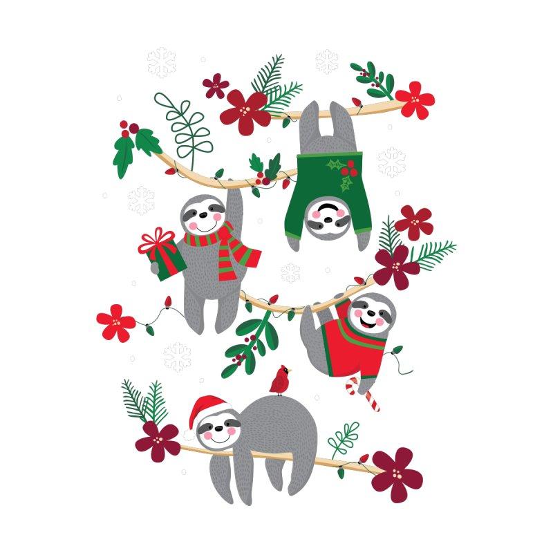 Christmas Sloths Accessories Neck Gaiter by Lisa Kubenez