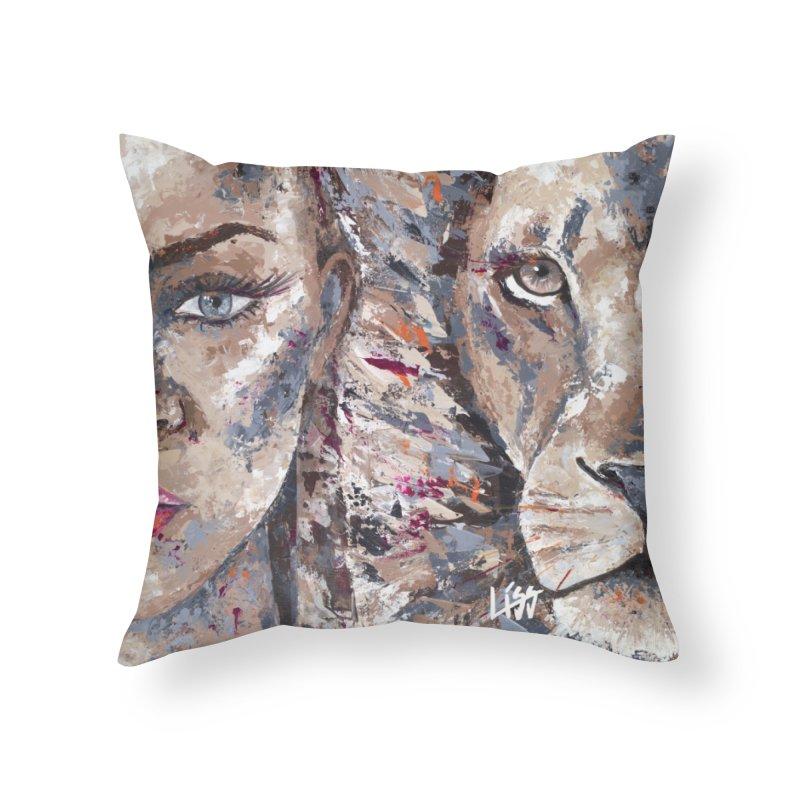 COOL CATS & KITTEN Home Throw Pillow by Liss Design Shop